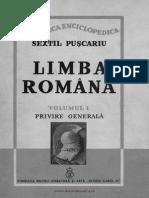 Puscariu - Limba Romana 1