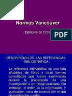 Referencias Bibliográficas Estilo Vancouver