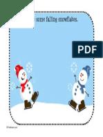 Snowflake Playdough Mat Toddler