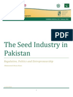 The Seed Industry in Pakistan - Regulation, Politics and Entrepreneurship