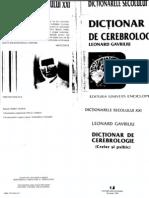 Leonard Gavriliu - Dicţionar de cerebrologie