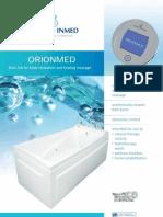 Orionmed professional advanced hydromassage bath tub