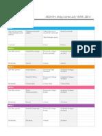 Schedule Internship