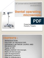 Dental Operating Microscope.