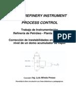 Oil Refinery Instrument - Process Control - Control de Nivel en Un Acumulador de Vapor