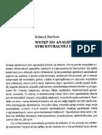 Barthes - Wstęp do analizy strukturalnej dzieła literackiego