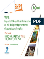 WP2 Impact of RA Quality and Characteristics