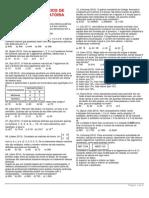 Matemática - Lista de Exercícios - Análise Combinatória