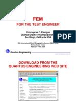 FEM for Test Eng