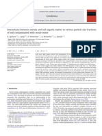 4.Interactions Between Metals and Soil Organic Matter in Various Particle Size Fractions