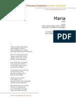 Antero de Quental - Maria
