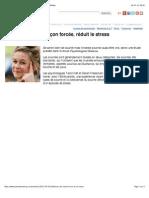 Sourire, même de façon forcée, réduit le stress | PsychoMédia