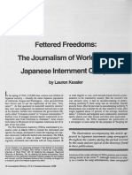 Fettered Freedoms- The Journalism of WWII Japanese Internment Camps