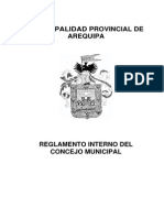 Reglamento Interno Del Concejo AREQUIPA