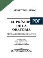 Moretones i Suñol, Jordi - El Príncipe de La Oratoria. Manual de Discurso Político