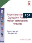 Documento Resumen Clasificacion Puestos