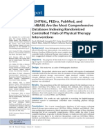 CENTRAL PEDro PubMed and EMBASE Are the Most Comprehensive Databases Indexing Randomized Controlled Trials of Physical Therapy Interventions