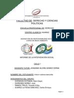 Informe de Intervencion Social 2014-1-Medio Ambiente