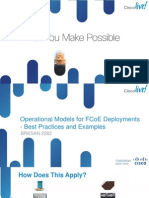 BRKSAN-2282 Operational Models for FCoE Deployments - Best Practices and Examples