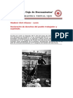 Declaracion de Derechos Del Pueblo Trabajador y Explotado Lenin