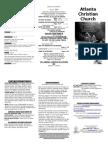July 13, 2014 Trifold Bulletin