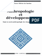 Anthropologie Du Developpement