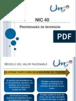 NIC 40 Propiedades de Inversión