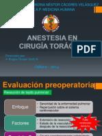 Anestesia en Qx Torax