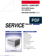 scx4200 printer troubleshooting manual