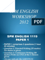 Spm English 1119 p1 Workshop