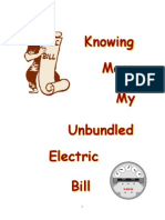 Unbundled Electril Bill Parts