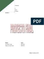 Proyecto Final, Administracion de Empresas