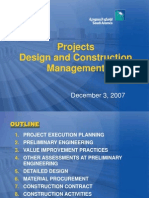 Dave Barrie - Design and Construction Management of Saudi Ar