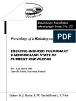 Monograph Series No. 20 - Exercise Induce Pulmonary Haemorrhage - Stage of Current Knowledge