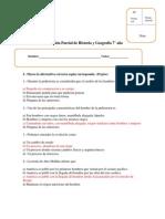 Evaluación Parcial de Historia y Geografía n°1