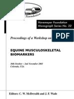 Monograph Series No. 22 - Equine Musculoskeletal Biomarkers