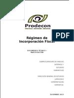(264053902) Trabajo Regimen de Regimen de Incorporacion Fiscal