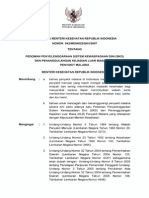 KMK No. 042 Ttg Pedoman Penyelenggaraan Sistem Kewaspadaan Dini (SKD) Dan Penanggulangan KLB Malaria