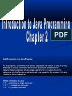 Basic Java Chapter 2