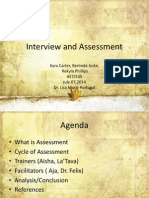 interview and assessment