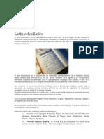 Literatura Latina a Través de Los Siglos