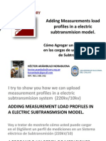 Adding Measurements Profiles in a Subtransmission System