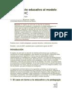 Del Proyecto Educativo Al Modelo Pedagógico