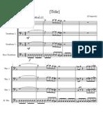 Phantom of the Opera Theme for Trombone Quartet