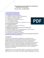 Globalizacion y Educacion LATINOAMERICA Pedro Rolo