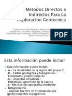 Metodos Directos e Indirectos Para La Exploracion Geotecnica