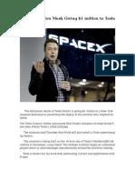 Billionaire Elon Musk Giving $1 million to Tesla Museum