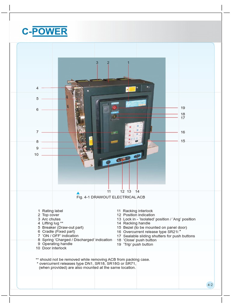 L T Acb Control Wiring Diagram Diagrams Schematics C Power Manual Electrical Engineering Electricity On Panel Honeywell Thermostat For