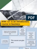 AFM131 - Introduction