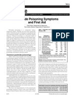 Pesticide Poisoning Symptoms and First Aid